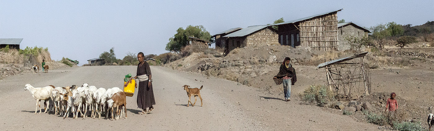 droga, Lalibela, Etiopia