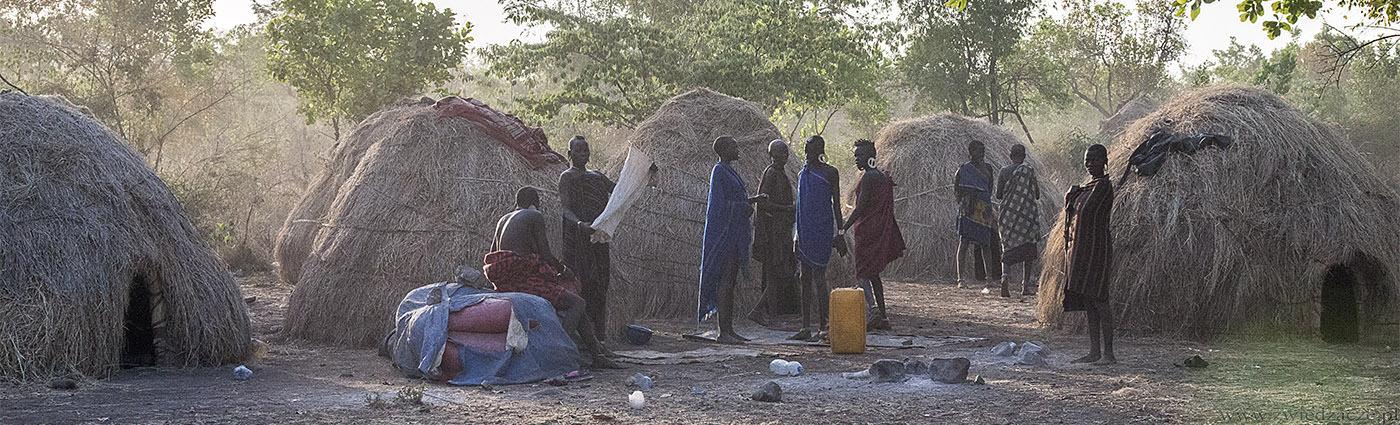 Dolina Omo, Etiopia, plemie Mursi